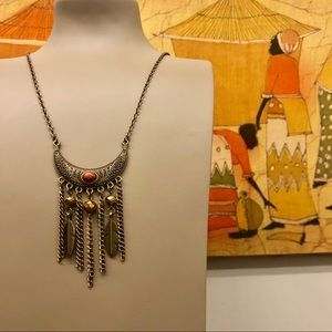 Jewelry - Beautiful vintage BohoChic Moon Feathers Necklace